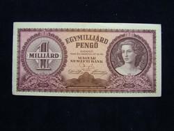 Egymilliárd  Pengő 1946 hajtatlan.