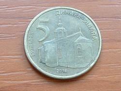 SZERBIA 5 DINÁR 2016