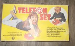 Régi retro nosztalgia gyerek játék telefon szett