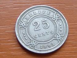 BELIZE 25 CENT 1993 #
