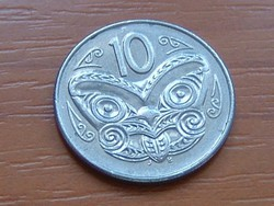 ÚJ-ZÉLAND NEW ZEALAND 10 CENT 1996 MAORI MASZK