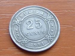 BELIZE 25 CENT 1991 #
