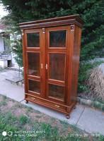 Gyönyörű Felújított Antik Ónémet Könyves Vitrines szekrény!!!