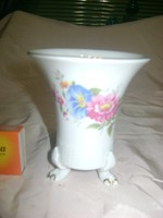 Hollóházi porcelán oroszlánkörmös váza
