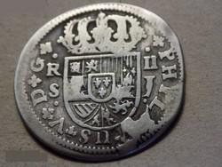Spain Ezüst 2 Reál 1721 RITKA