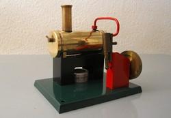 Antik gőzgép - játék, működő makett