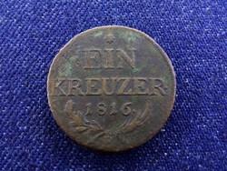 I. Ferenc 1 Krajcár 1816 B/id 4391/
