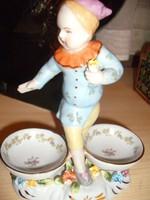 Antik sitzendorfi figurális fűszertartó 1884-1902