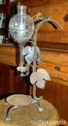 Antik bor adagoló - kovácsoltvas - üveg BORAL PULA