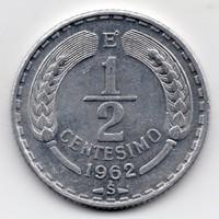 Chile 1/2 centavos, 1962, szép
