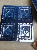 MEISSENI szépséges antik art-deco cserépkályha kobaltkék színben
