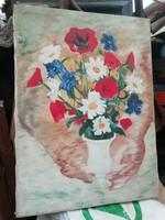 Virág csendélet olaj vászon festmény 2