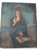 Olajfestmény vászon régi antik festmény régiség