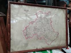 Heves megyei nagy térkép keretezve