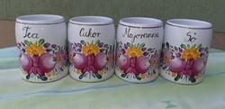 Gyönyörű kézzel festett fűszertartó