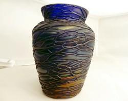 Antik Pallme König szecessziós üveg váza