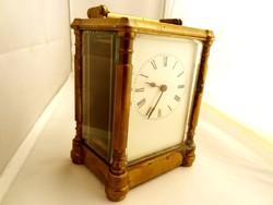 XIX. századi nagy francia utazó óra! Kifogástalanul működik.