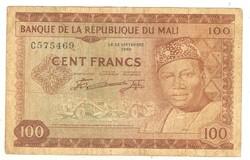 100 francs 1960 Mali
