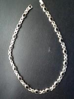 Ónix köves antik nyakék, nyaklánc, lánc