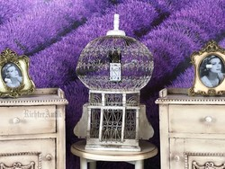 Provence bútor, antikolt madár kalitka.
