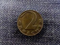 Ausztria - 2 Groschen 1925 verdefénnyel/id 6766/