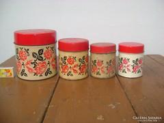 Régi fűszeres lemez doboz - négy darab - együtt eladó