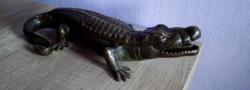 Ritka bronz krokodil tintatartó