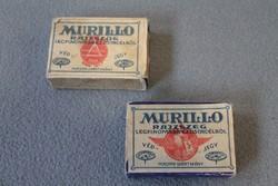 Kettő Murillo rajzszeg csomagolása, doboz