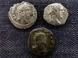 3 db római érme ezüstökkel (id7515)