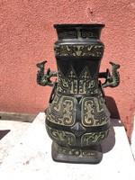 Keleti fém váza