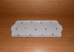 Antik Zsolnay porcelán sütemény kínáló tálca 16*38+fül cm (6p)