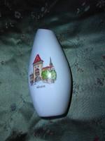 Régi Aquincum porcelán emlék váza (Kőszeg)