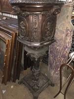 Hatalmas barokk  bronz kaspó