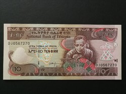 Etiópia 10 birr UNC 2017