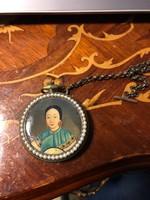 Mjongszong császárné bronz zsebóra
