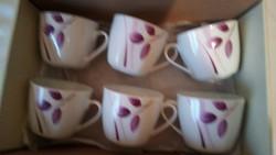 Edles vastag falú porcelán csészék 6 darab