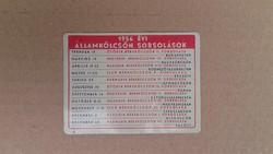 Fémlemez naptár 1956,Államkölcsön sorsolások,OTP