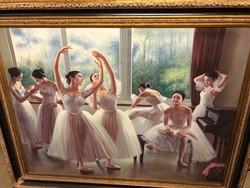 Ázsiai balett táncosok (olaj -vászon).