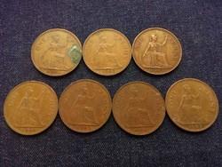 Anglia - Erzsébet királynő One Penny évszám gyűjtemény/id 7756/