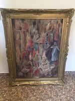 10ft-ról! Hatalmas antik festmény!