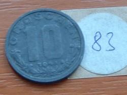 AUSZTRIA OSZTRÁK 10 GROSCHEN 1948 CINK  83.