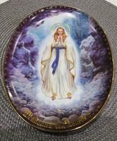 Lourdesi Madonna Falitányér Limitált Sorszámmal