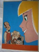 RUSZKAY GYÖRGY Füles festmény 21x31,5 cm