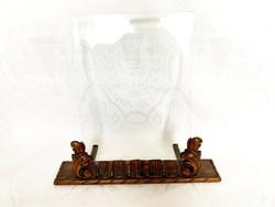 Antik faragott asztali fényképtartó, fotó tartó