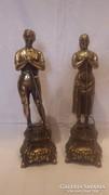 Termésért imádkozó férfi és nő szobor párban 43 cm