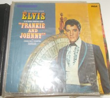 Retro nosztalgia hanglemez Elvis RCA Franky and Johnny bakelit lemez