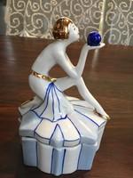 Art deco, porcelán ékszertartó