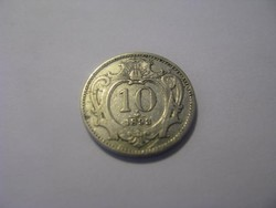 10 fillér 1893. Ferenc József