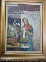 Elisabeth Voigt 1893 - 1977 - Kötögetö zéldségárus