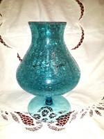 Repesztett  üveg  kehely  váza
